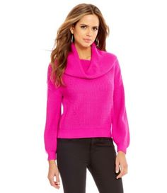 Gianni Bini Jenna Cowl Neck Knit Sweater #Dillards