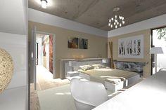 Spálňa v zóne partnerstva a v živle dreva | Living styles