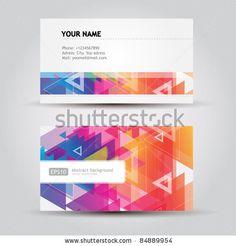Colorful Business Cards Stock-Vektorillustrationsnummer: 84889954 : Shutterstock