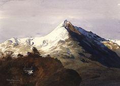 Cnicht a Thy'n y Celyn, an original watercolour painting by Rob Piercy