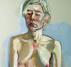 Alice Neel - Andy Warhol portrait I like the different colors in the skin