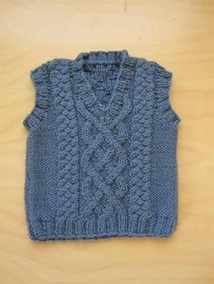 Knitting Pattern Cable Vest Skill Level Easy Size 6