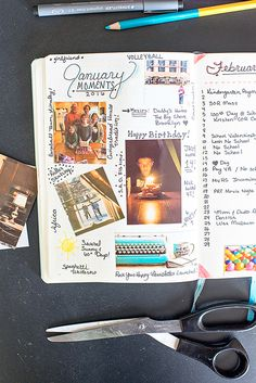 February 1st Bullet Journal Monthly Highlights page #BulletJournal