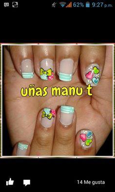 Uñas manut Fingernail Designs, Crazy Nails, Cute Nail Art, Nail Bar, Toe Nails, Beauty Hacks, My Favorite Things, French Manicures, Makeup