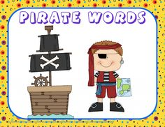 Free for TOUGH BORIS Work page, answer key, pocket chart pirate words, pirate awards, free PDF
