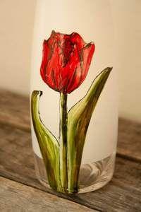 Pompe à savon moussant design tulipe rouge – Pero