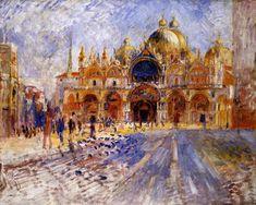 The Piazza San Marco, Venice (Pierre Auguste Renoir - 1881)