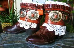 Upcycled Cowboy Boots  LUCKENBACH LORETTA  by TheMagicGawdess, $168.79