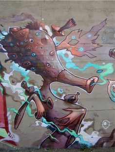 Dhear is a graffiti and street-art artist from Mexico City. His surrealistic and colorful creations can be found in Mexico and Spain.