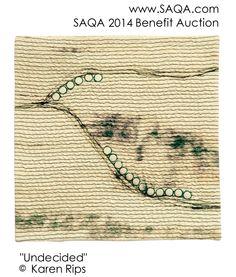 Art quilt by Karen Rips #artquilts #SAQA