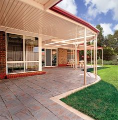 A quality flat roof patio is an easy and inexpensive way to add value to your home. By expanding your outdoor living space you can make your home seem much larger and get more use of your outdoor space. A Stratco Outback flat roof patio can be a standalon