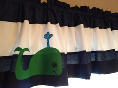 These cute valances are custom made to match your nursery decor! Or - choose this valance to coordinate with my other nursery bedding! Bedroom Valances, Nursery Curtains, Nursery Bedding, Nautical Baby, Nautical Theme, Baby Hunter, Whale Nursery, Bedroom Themes, Baby Boy Nurseries