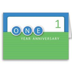 Business, company and corporate needs - perfect card to offer congratulations on employee anniversary on 1 year. Need customizing? Just ask.  Unique wholesale opportunities available.