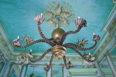 ceiling decorating with octopus chandelier in baroque style