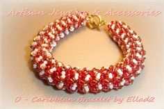 O-Caribbean Bracelet beaded by Gabriela Karambis. Beautiful! Thank you for sharing!