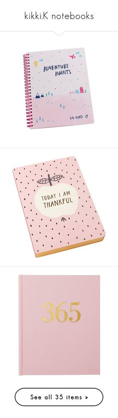 """kikki.K notebooks"" by angela-jiang ❤ liked on Polyvore featuring fillers, books, fillers - pink, notebooks, extras, home, home decor, stationery, pink fillers and accessories"