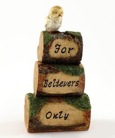 Another great find on #zulily! 'For Believers Only' Owl Mini Cairn #zulilyfinds