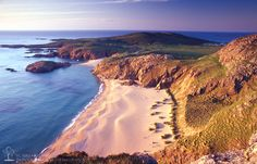 Evening light on Boyeeghter Strand, Melmore Head, Co Donegal