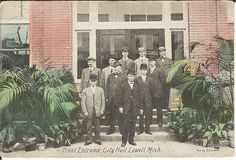 Front Entrance, City Hall, Lowell, Mich. - postmarked 1913.