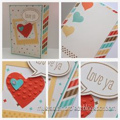 Love Ya | My Stampin' Project | Stampin' Up! | Just Sayin' | Perfect Pennants