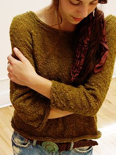 Mothed knit pull-over by Mags Kandis with Americo Winter Flamme yarn.  Love the texture and interesting sleeve