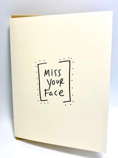 Excited to share the latest addition to my shop: Miss Your Face Card, Social Distance/Quarantine Card, Reach out with Love Anniversary Cards For Wife, Cricut Anniversary Card, Miss You Cards, Sympathy Cards, Lettering Design, Greeting Cards Handmade, Homemade Cards, Just For You, Card Ideas