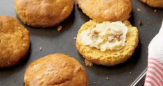 A recipe for breakfast, lunch, or dinner: sweet potato biscuits and honey butter Sweet Butter, Honey Butter, Sweet Potato Biscuits, Potato Pie, Honey Bread, Savory Scones, State Foods, Butter Recipe, Sweet Recipes