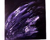 Artículos similares a Art, Home Decor, Abstract, Painting, Purple Wing:  Flee en Etsy