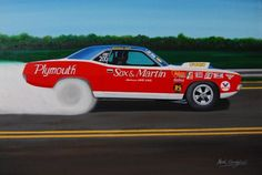 One of the greatest drag racing cars in history -- the Sox & Martin Plymouth Cuda Pro Stocker.