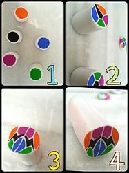 DIY Tutorial -  Barrita de fimo - Fimo cane Polymer Clay Canes, Diy, Tutorials, Diy Kid Jewelry, Ideas, Barbell, Polymer Clay, Colors, Manualidades