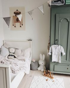 Kid room decor - I often think that if I didn't work in fashion then my B plan would be interiors I apply the same rules to dressing a room that I use for dressing myself… nothing too crazy with the colour palett Baby Bedroom, Baby Boy Rooms, Girls Bedroom, Kids Room Design, Baby Design, Kid Spaces, Girl Room, Room Boys, Room Inspiration