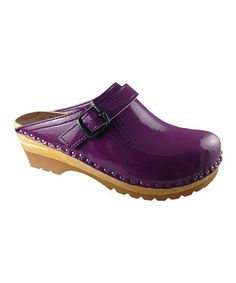 Take a look at this Purple Patent Raphael Clog by Troentorp on #zulily today!