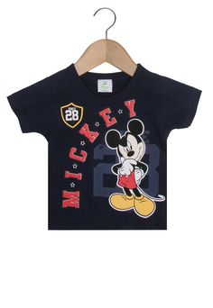 03dbe6c6ee Camiseta Brandili Mickey Mouse Azul-Marinho