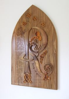 Book of Kells in Wood wall hanging by jackdolanwoodcraft on Etsy  Amazing artisian