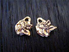 Tiny Gold Bronze Rustic Artisan Flower by VDIJewelryFindings
