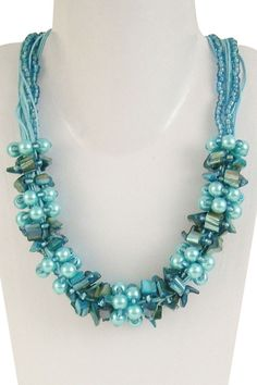 BEADS! Turquoise Wrap Necklace