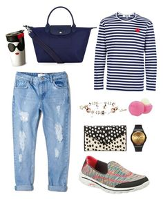 """Thursday mood"" by gotcha-michel on Polyvore featuring MANGO, Longchamp, Play Comme des Garçons, The Bradford Exchange, Alice + Olivia, Swatch, Marc by Marc Jacobs, Skechers and Eos"