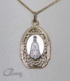 Medalhas delicadas  Nossa Senhora Aparecida Joias carmine