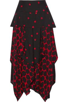 PROENZA SCHOULER Layered Printed Crepe Midi Skirt. #proenzaschouler #cloth #skirts