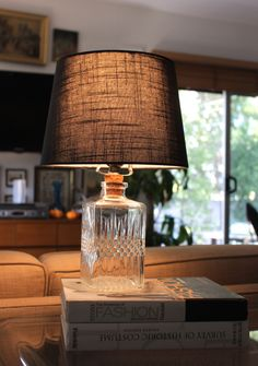 Learn how to create this inexpensive, chic lamp.
