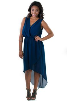 Maya High Low Dress Navy Blue - Perfect for Summer weddings!