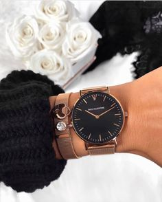 High Quality & Stylish Watches -The Paul Valentine, Pearl Rose Gold Mesh. Featuring Rose Gold Stainless Steel & one of the finest stainless steel Mesh straps Pearl Rose, Rose Gold, Trendy Watches, Cheap Watches, Accesorios Casual, Women Jewelry, Fashion Jewelry, Beautiful Watches, Quartz Watch