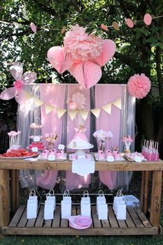 Pink Fairy Themed Birthday Party Full of Really Cute Ideas : The Sweet Table