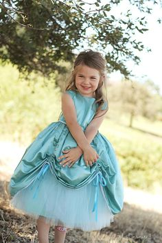 Princess Gown Sewing Pattern- this would look wonderful in our Cotton Silk Blend #CS45 dyed up in your little ones favorite color!