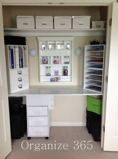 Sensational I Really Enjoy This Desk In A Closet Idea Maybe Steven Will Let Largest Home Design Picture Inspirations Pitcheantrous