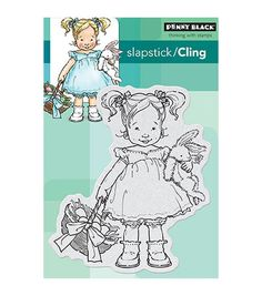 PENNY BLACK-Slapstick Cling Rubber Stamps. Penny Black stamps feature high-quality images in red rubber with a 1/8 inch foam pad for maximum transfer. Stamps are available in a wide variety of themes