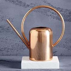 Indoor Vegetable Gardening west elm Modern Copper Watering Can - Oversized and copper-finished, this watering can doubles as a vase when not being used to water house plants. Modern Planters, Indoor Planters, Ceramic Planters, Hanging Planters, Garden Planters, Eco Design, Modern Garden Design, Contemporary Garden, Design Ideas