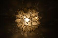 Lotus Hanging Lamp Globe Lamp Vintage Lotus Lamp by Vintassentials