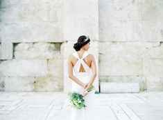 Get inspired for a destination wedding in Greece with this photo shoot crafted around Ancient Greece. The backdrop of Athens is mixed with an elegant tablescape, the prettiest olive branch details and. Greek Style Wedding Dress, V Neck Wedding Dress, Seaside Wedding, Destination Wedding, Wedding Vendors, Wedding Blog, Greece Wedding, Bridal Looks, Engagement Couple