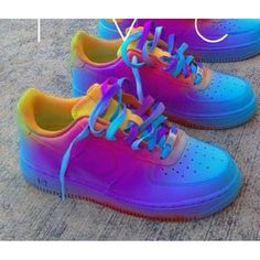 Shoes: colorful nike air force 1 af1 air force 1 air force ones yellow... ❤ liked on Polyvore